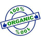 Hundred Percent Organic Represents Healthy Green And Eco Royalty Free Stock Image