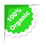 Hundred Percent Organic Shows Absolute Completely And Eco Royalty Free Stock Image