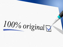 Hundred Percent Original Represents Bona Fide And Absolute Royalty Free Stock Photography