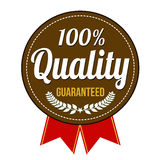 Hundred percent quality guaranteed badge Stock Photography