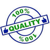 Hundred Percent Quality Means Perfect Absolute And Completely Royalty Free Stock Photo