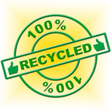 Hundred Percent Recycled Indicates Go Green And Absolute Royalty Free Stock Photo