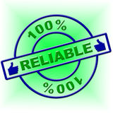 Hundred Percent Reliable Indicates Absolute Relying And Completely Stock Photos