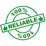 Hundred Percent Reliable Means Absolute Depend And Relying Royalty Free Stock Photo