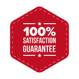 Hundred percent satisfaction guarantee. Vector Stock Photo