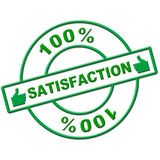 Hundred Percent Satisfaction Indicates Absolute Satisfied And Contentment Stock Image