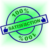 Hundred Percent Satisfaction Indicates Contentment Gratification And Absolute Royalty Free Stock Photography