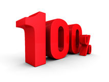 100 Hundred Percent Sign Red Letters Royalty Free Stock Photo