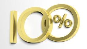 Hundred percent symbol Royalty Free Stock Photos