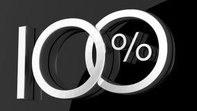 Hundred percent symbol. 3D Rendering of a hundred percent symbol Stock Illustration