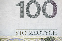 Hundred polish bill Royalty Free Stock Photography