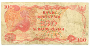 The hundred rupiah bill of Ind Royalty Free Stock Photos