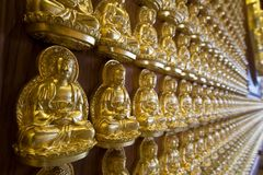 The hundred thousand budda wall Stock Image