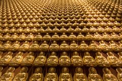 The hundred thousand budda wall Stock Photography