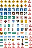 Hundred traffic signs Royalty Free Stock Photos