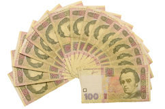 Hundred Ukrainian hryvnia Royalty Free Stock Photo