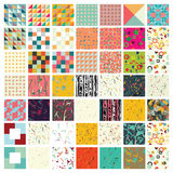 Hundred universal different geometric seamless patterns. Royalty Free Stock Photography