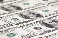 Hundred US dollars close up Stock Images