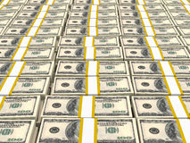 Hundred US Dollars. Royalty Free Stock Images