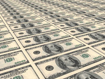 Hundred US Dollars. Stock Photos