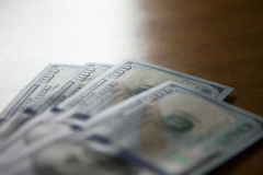 Hundred US dollars notes. Royalty Free Stock Photos