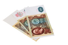 Hundred USSR rubles. Of 1991 on a white background Royalty Free Stock Photos