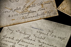 Hundred Year Old Love Letter from Atlantic City Royalty Free Stock Image