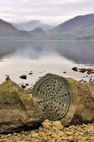 Hundred year stone, Derwentwater Stock Photography
