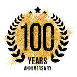 Hundred years gold anniversary. Royalty Free Stock Photos