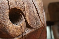Hundred years old wood craft Stock Images
