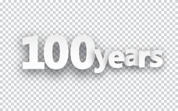 Hundred years paper sign. Hundred years paper sign over cells. Vector illustration vector illustration
