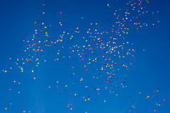 Hundreds of balloons Royalty Free Stock Image