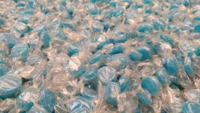 Hundreds of blue mint candies Stock Image