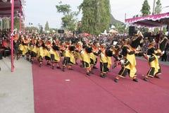 Hundreds dance Staged In Sukoharjo Stock Photos