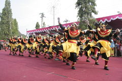 Hundreds dance Staged In Sukoharjo Royalty Free Stock Photos
