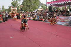 Hundreds dance Staged In Sukoharjo Royalty Free Stock Images
