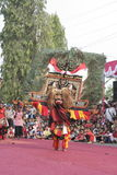 Hundreds dance Staged In Sukoharjo Stock Image