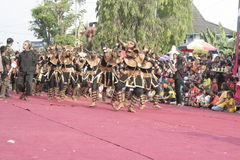 Hundreds dance Staged In Sukoharjo Stock Photography