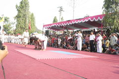 Hundreds dance Staged In Sukoharjo Royalty Free Stock Photography
