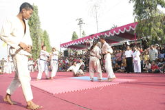 Hundreds dance Staged In Sukoharjo Royalty Free Stock Photo