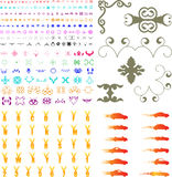 Hundreds of elements. Hundreds of graphic elements including cars, flames, alphabet, scrolls, flourishes etc etc Royalty Free Stock Photography