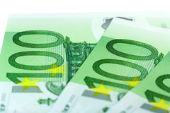 Hundreds of Euros Stock Photography
