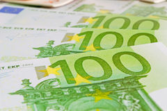 Hundreds of euros Royalty Free Stock Images