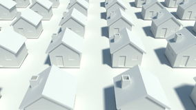 Hundreds of houses in various row Stock Images