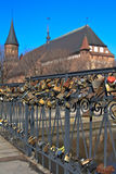 Hundreds of locks Stock Photo