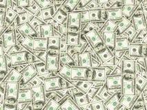 Hundreds of new Benjamin Franklin 100 dollar bills arranged rand Stock Photos