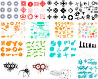 Hundreds Of Graphic Elements Royalty Free Stock Images