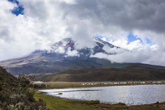 Hundreds of people visit the Cotopaxi National Park Stock Photos
