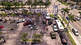 Hundreds rally in Hallandale to support Israel