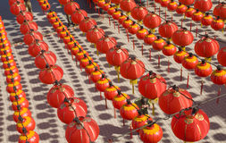 Hundreds of red lantern. Royalty Free Stock Photos
